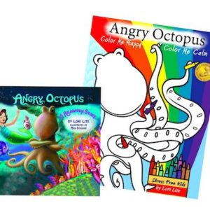 Angry Octopus Coloring Book Combo